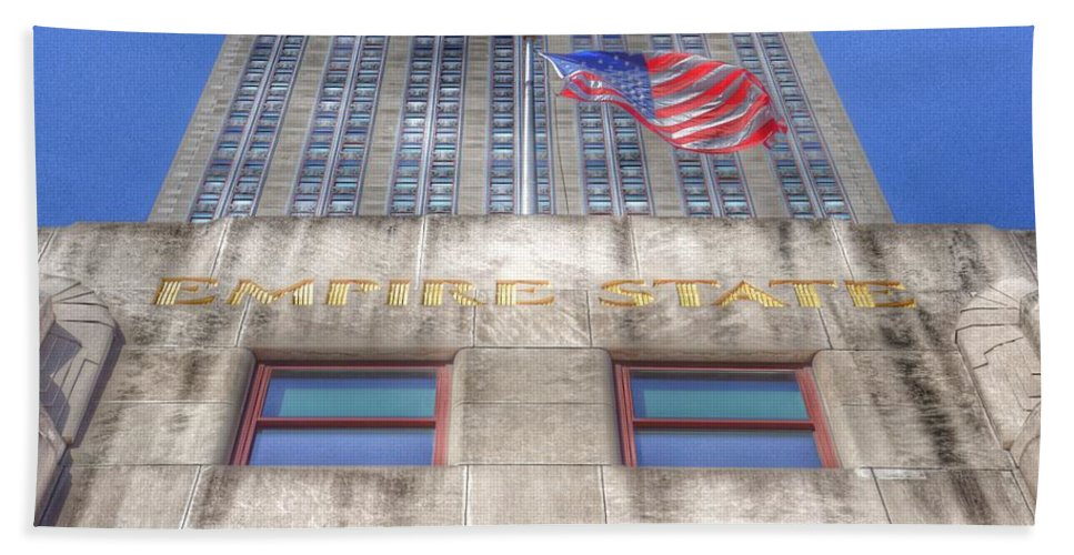 Empire State Building Bath Sheet featuring the photograph Empire State Building by Marianna Mills