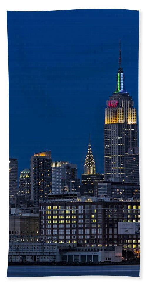 Empire State Building Bath Sheet featuring the photograph Empire State by Susan Candelario
