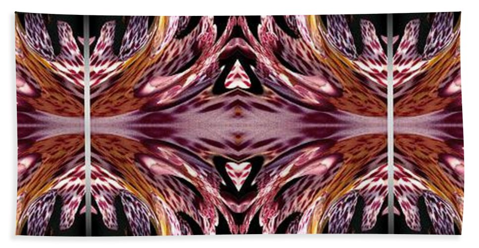 Mccombie Bath Sheet featuring the painting Empress Abstract Triptych by J McCombie