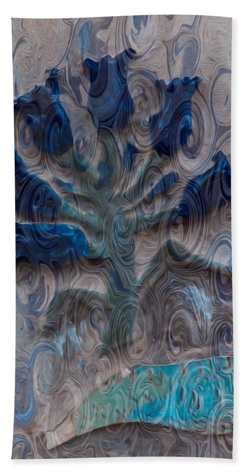 North Cascades Bath Sheet featuring the painting Enchanted Bluebells by Omaste Witkowski