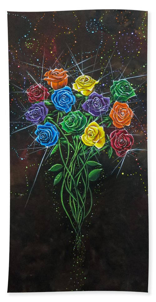 Roses Bath Sheet featuring the painting Enchanted by Joel Tesch