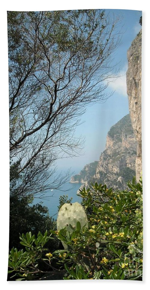 Positano Hand Towel featuring the photograph Enclave Of Excellence by Lisa Kilby