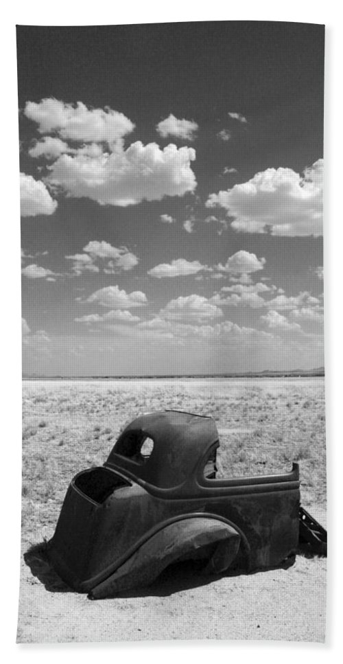 Car Bath Sheet featuring the photograph End of the Road by Joe Kozlowski
