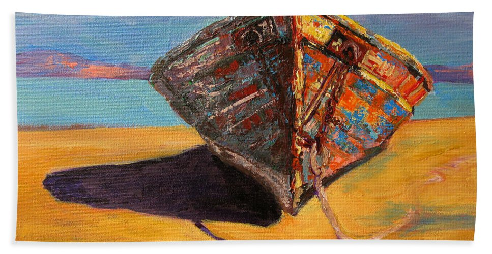 Boat Bath Sheet featuring the painting Endurance by Patricia Awapara