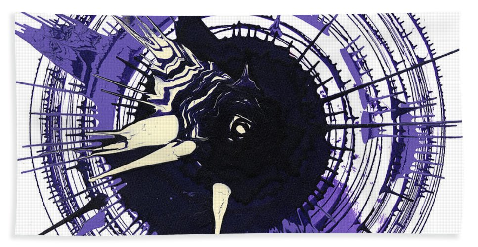 Energy Hand Towel featuring the mixed media Energy II by Luz Elena Aponte