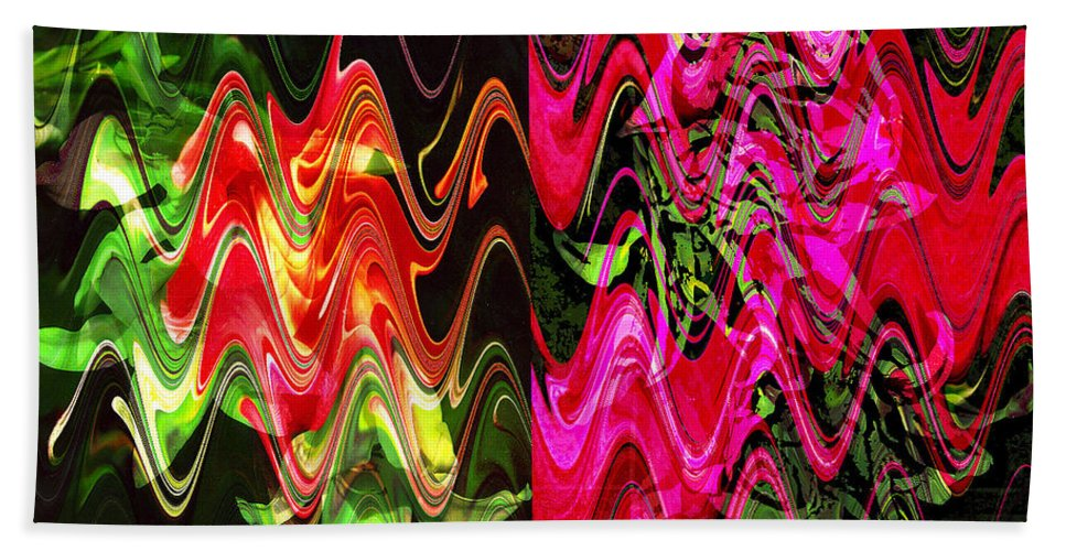 Abstract Bath Sheet featuring the digital art Energy by Yael VanGruber