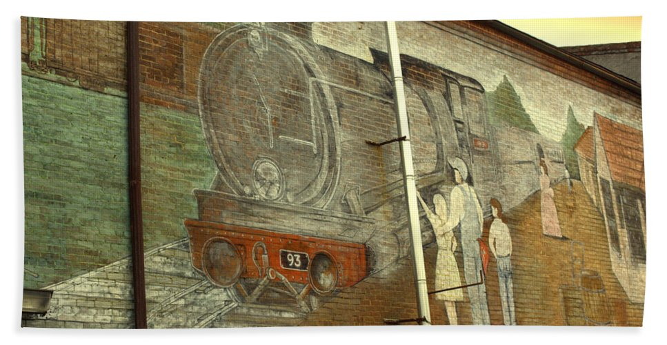 Train Hand Towel featuring the photograph Engine 93 by Kathy Barney