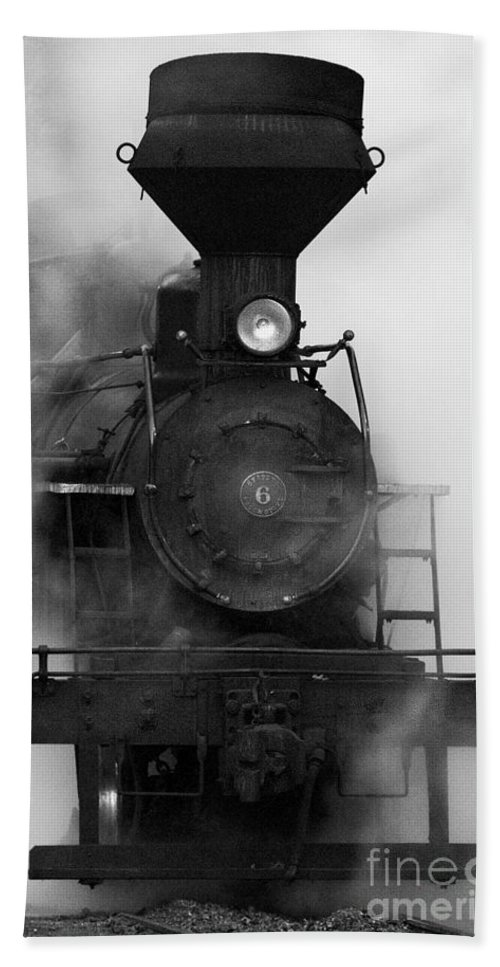 Antiquated Bath Sheet featuring the photograph Engine No. 6 by Jerry Fornarotto