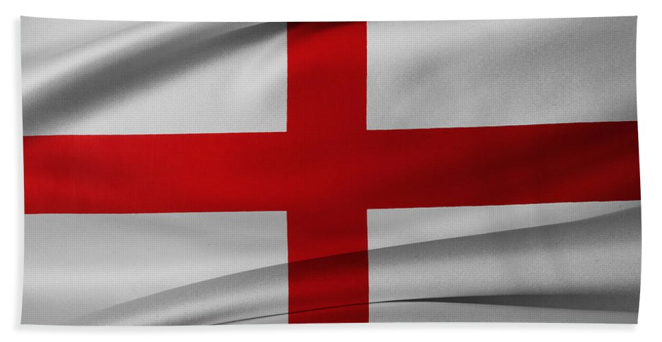 Background Bath Sheet featuring the photograph English Flag by Les Cunliffe