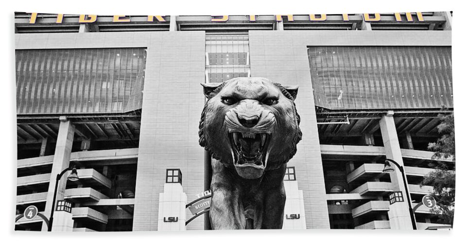 Lsu Bath Sheet featuring the photograph Enter At Your Own Risk - Select Color by Scott Pellegrin