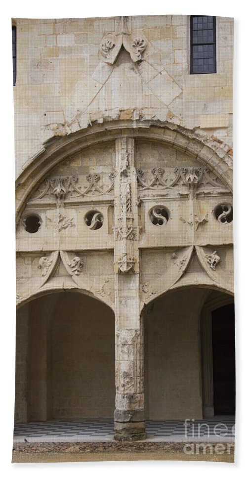 Cloister Bath Sheet featuring the photograph Entrance Fontevraud Abbey- France by Christiane Schulze Art And Photography