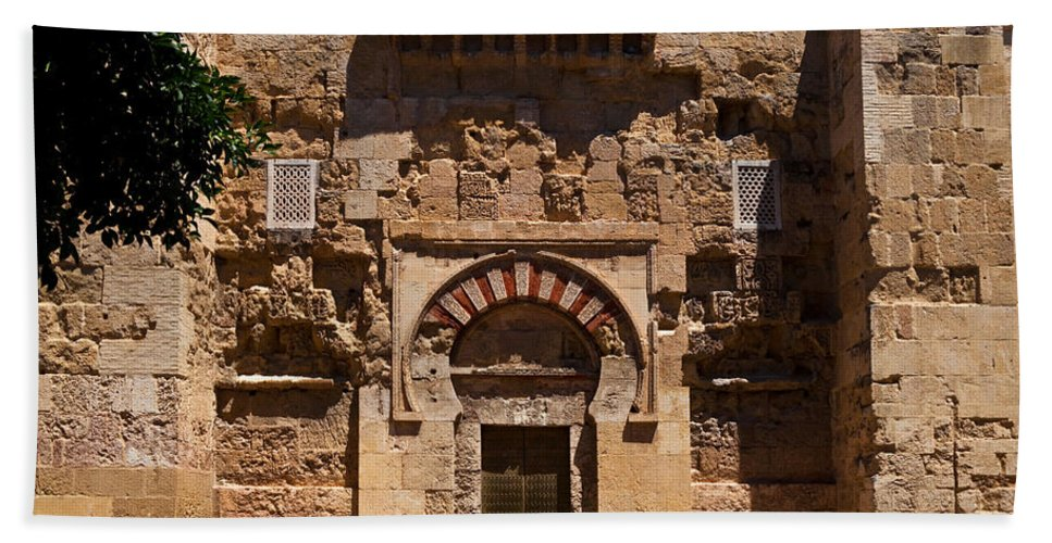Photography Bath Sheet featuring the photograph Entrance To The 10th Century Mezquita by Panoramic Images