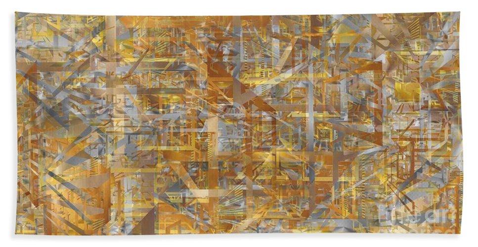 Digital Bath Sheet featuring the mixed media Entropia by Karol Sloyan