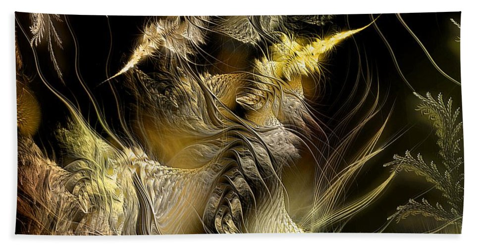 Abstract Bath Sheet featuring the digital art Environmental Transitions 5 by Casey Kotas