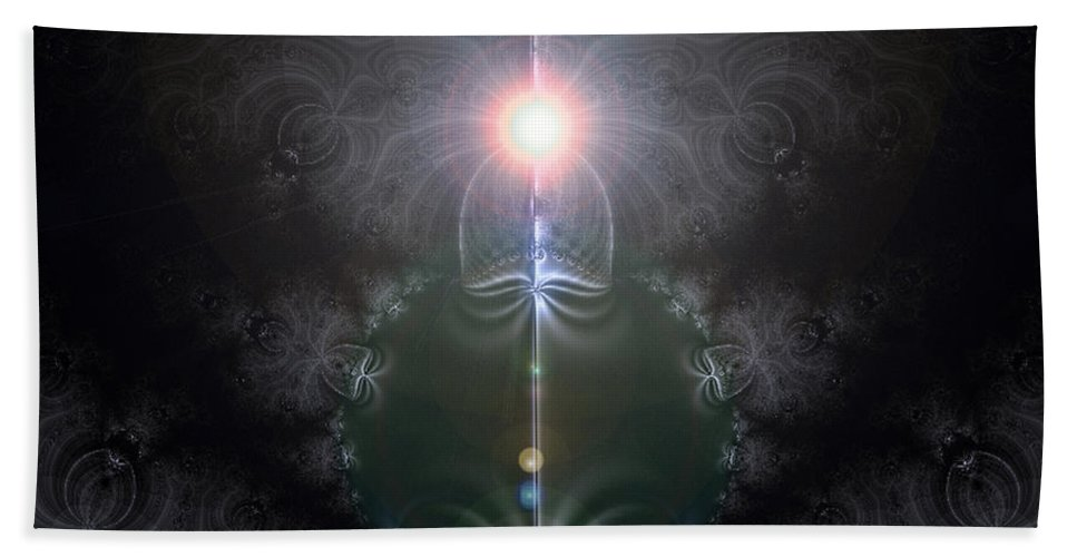2-dimensional Hand Towel featuring the digital art Green Machine by Dana Haynes