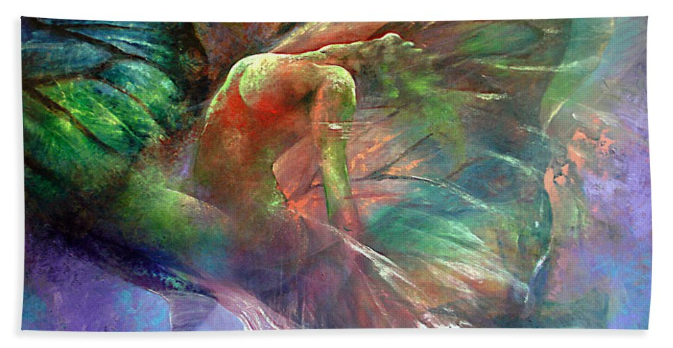 Butterfly Bath Sheet featuring the painting Ephemeral Life by Karina Llergo