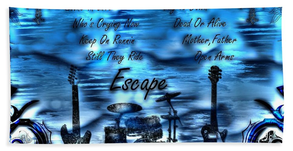 Escape Bath Sheet featuring the digital art Escape by Michael Damiani