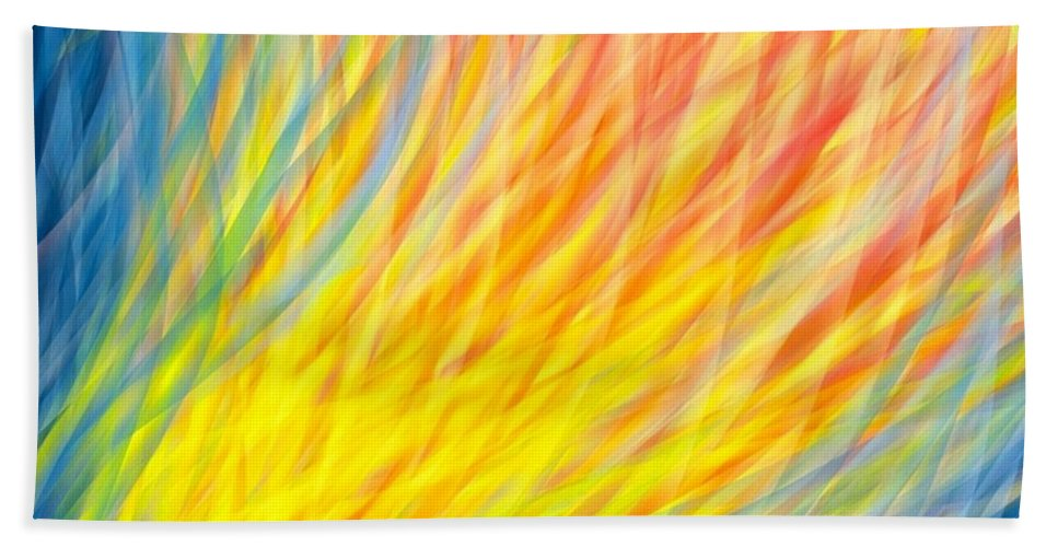Brushstrokes Hand Towel featuring the digital art Essentially by Candi Rose