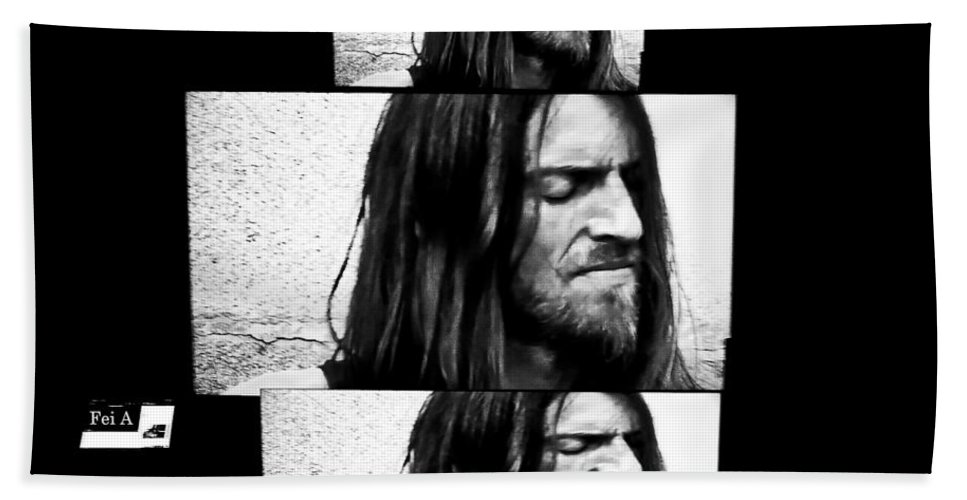 People Hand Towel featuring the photograph Estas Tonne's Face by Fei A