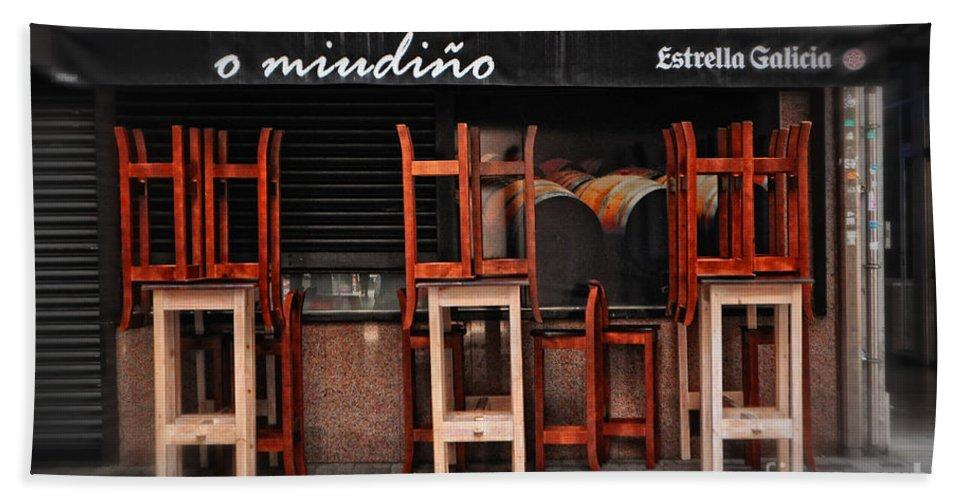 Estrella Galicia Bath Sheet featuring the photograph Estrella Galicia by Mary Machare