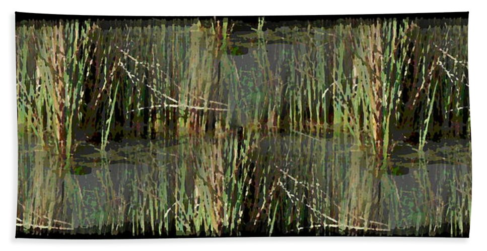 Estuary Bath Sheet featuring the digital art Estuaries Edge by Tim Allen