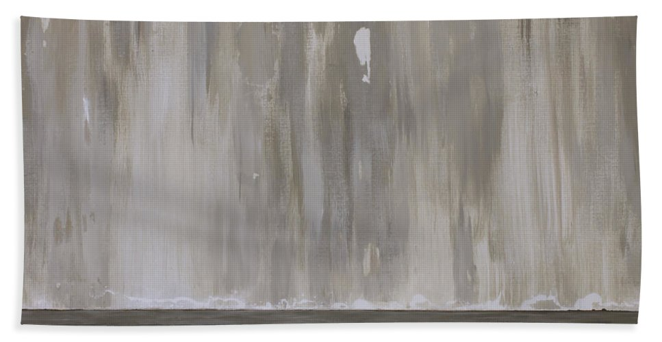 Abstract Bath Sheet featuring the painting Etude En Taupe by Suzanne J Blinder