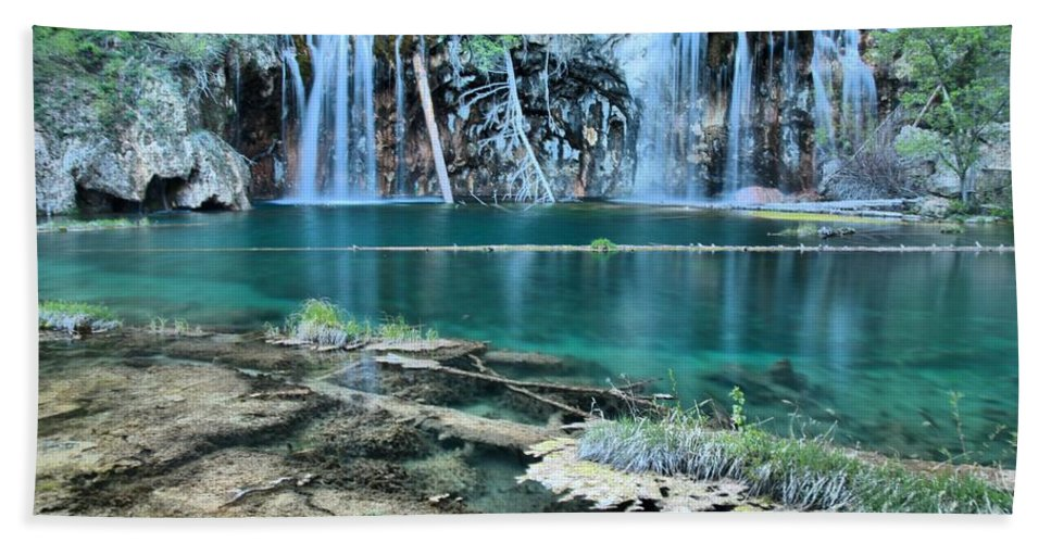 Hanging Lake Bath Sheet featuring the photograph Evening At Hanging Lake by Adam Jewell
