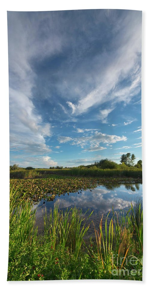 00559203 Bath Towel featuring the photograph Clouds In The Snake River by Yva Momatiuk John Eastcott