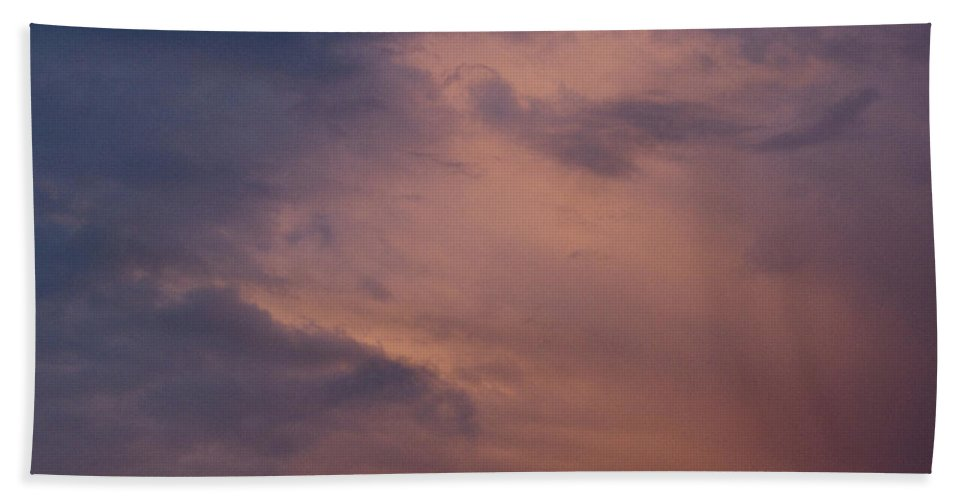 Photography Hand Towel featuring the Evening Clouds by Steven Natanson