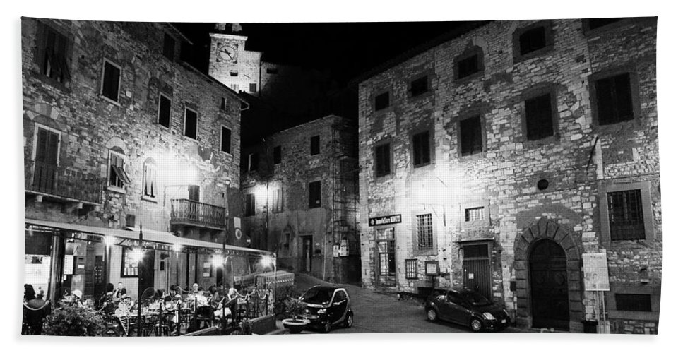Tuscany Hand Towel featuring the photograph Evening In Tuscany by Ramona Matei