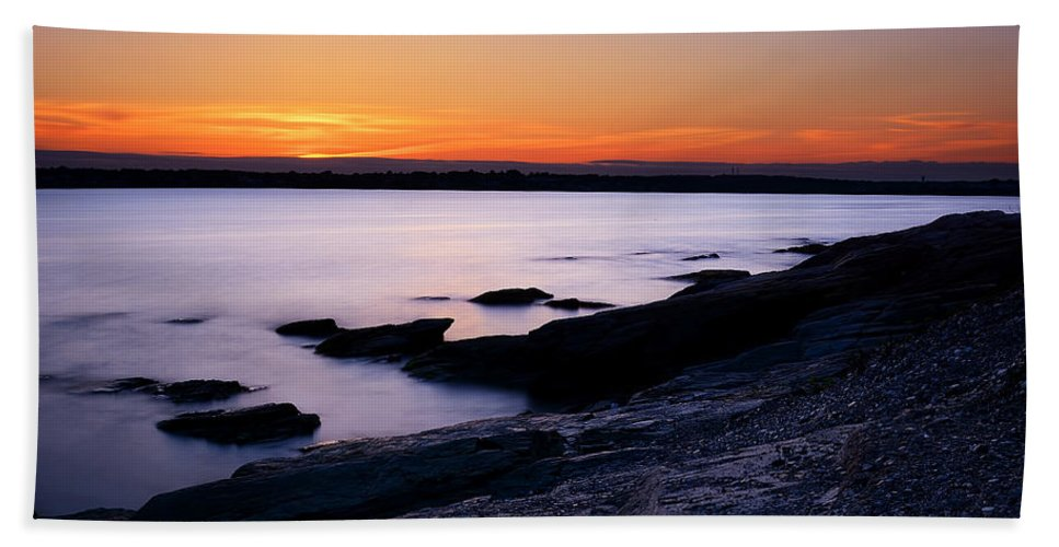Rhode Island Hand Towel featuring the photograph Evening Repose by Lourry Legarde