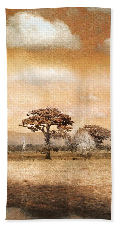 Landscapes Hand Towel featuring the photograph Evening Showers by Holly Kempe