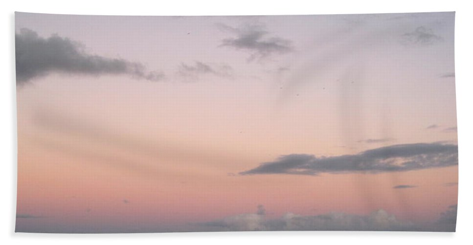 Beach Hand Towel featuring the photograph Evening Sky by Megan Cohen