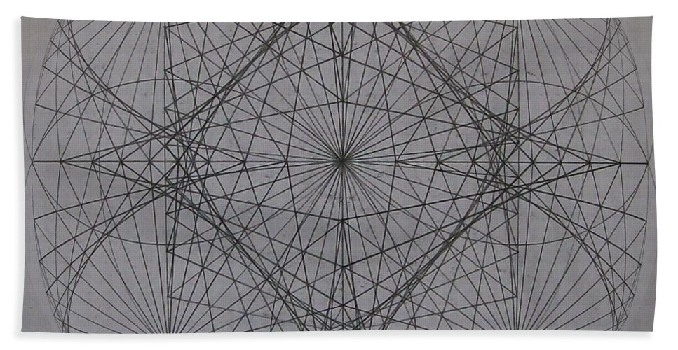 Event Horizon Bath Sheet featuring the digital art Event Horizon by Jason Padgett