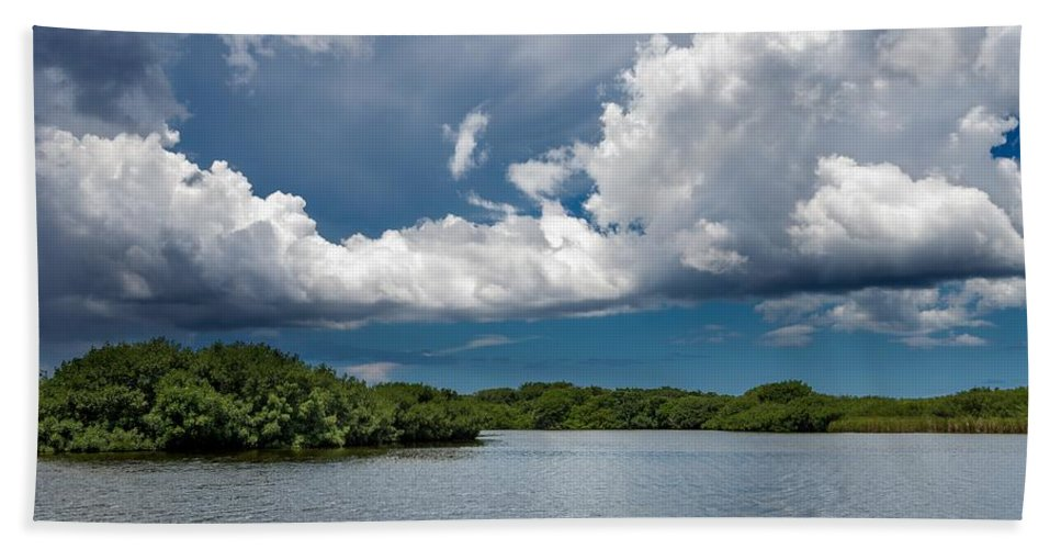 Everglades Hand Towel featuring the photograph Everglades 0254 by Rudy Umans