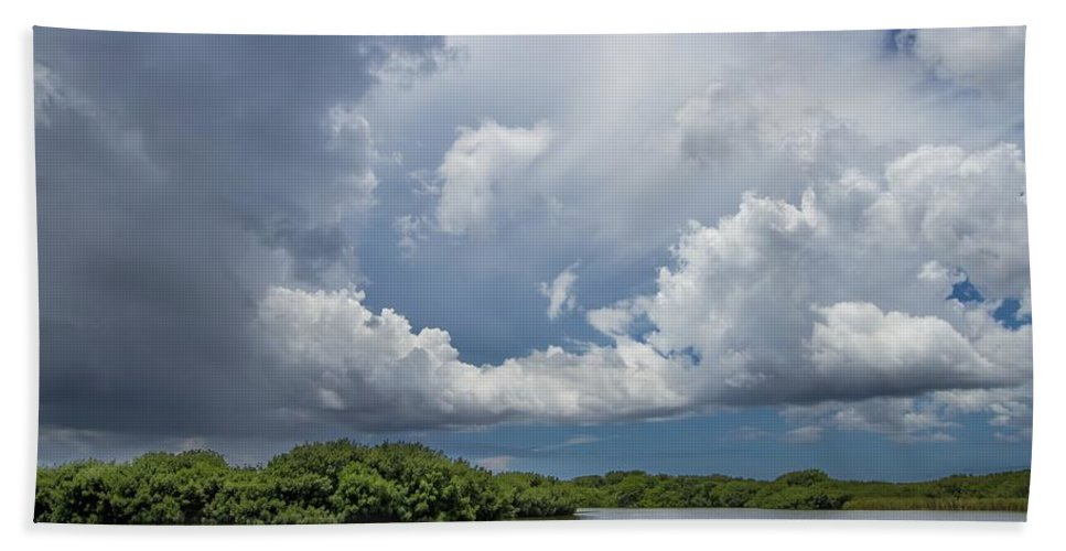 Everglades Hand Towel featuring the photograph Everglades 0257 by Rudy Umans