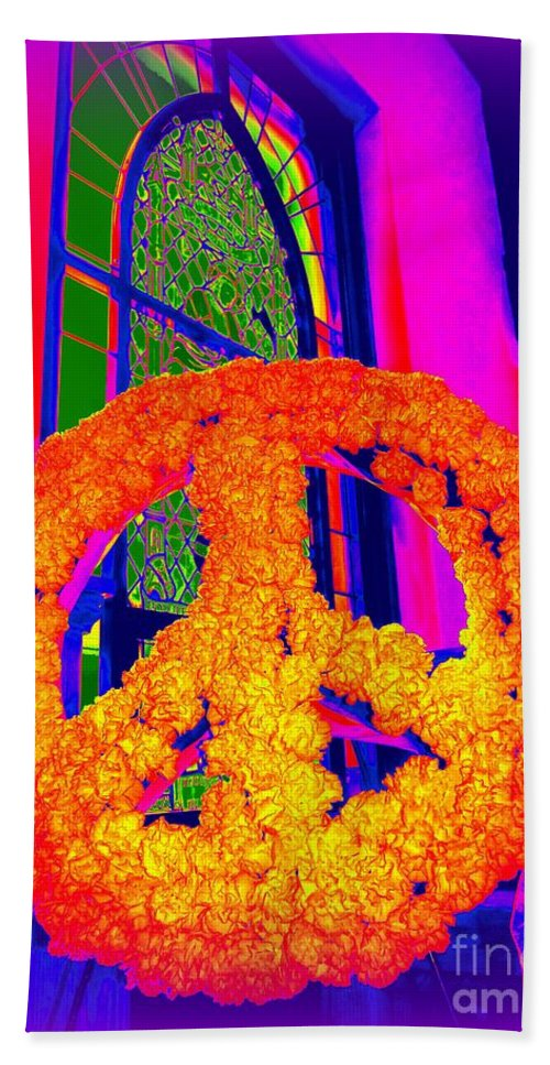 Pop Art Hand Towel featuring the photograph Everlasting Peace by Ed Weidman