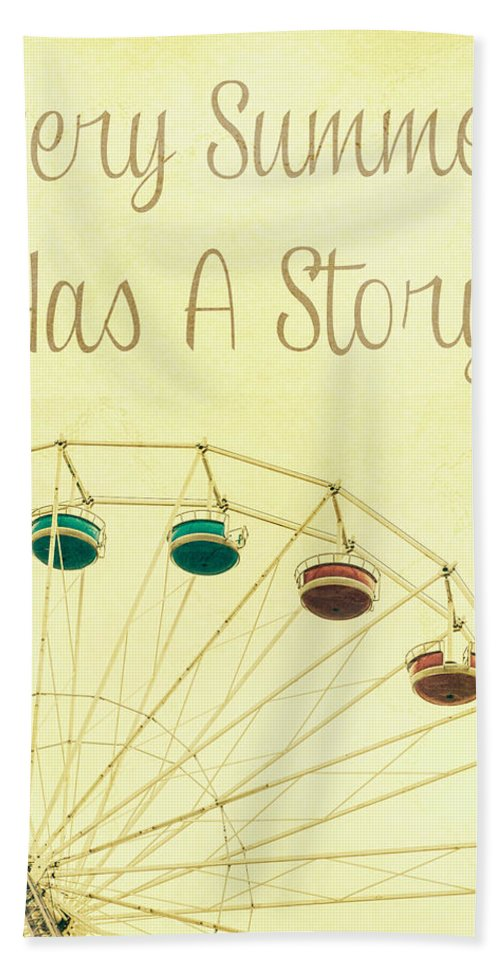 Ferris Wheel Hand Towel featuring the photograph Every Summer Has A Story by Pati Photography