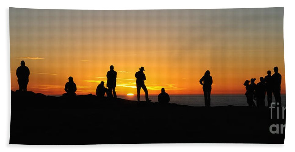 Sunset Hand Towel featuring the photograph Everyone Loves A Sunset Panorama by Vivian Christopher