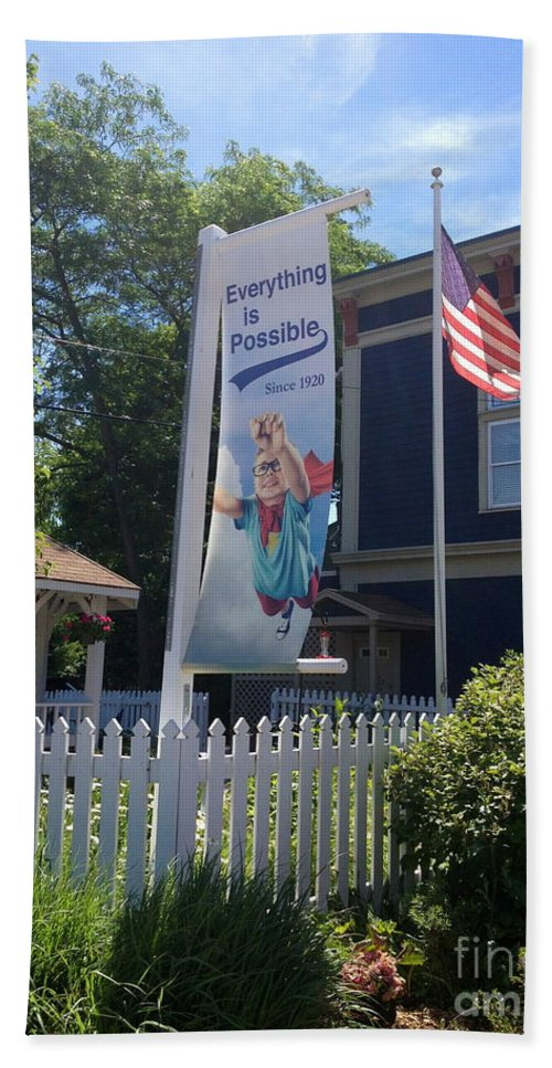 Flag Bath Sheet featuring the photograph Everything Is Possible by Beth Saffer