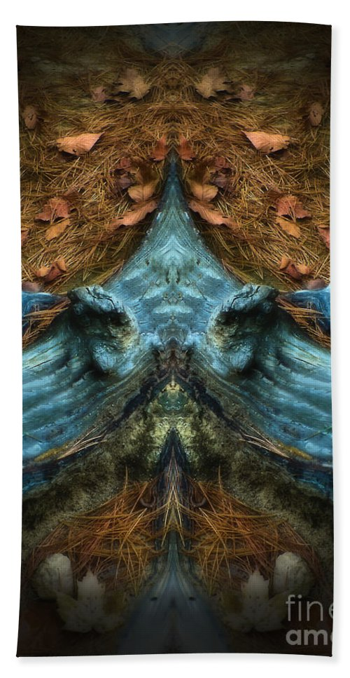 Autumn Bath Sheet featuring the photograph Evil Autumn Tree Roots by Mike Nellums