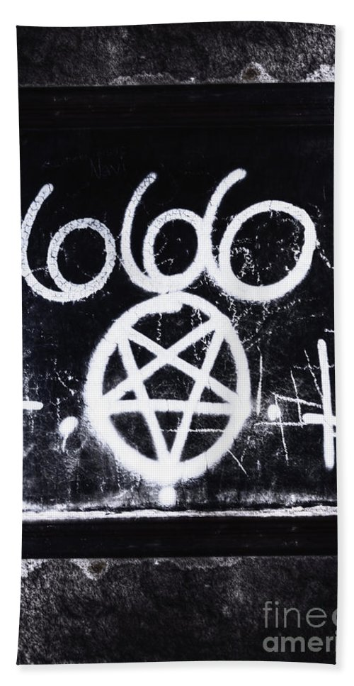 666 Bath Sheet featuring the photograph Evil by Margie Hurwich