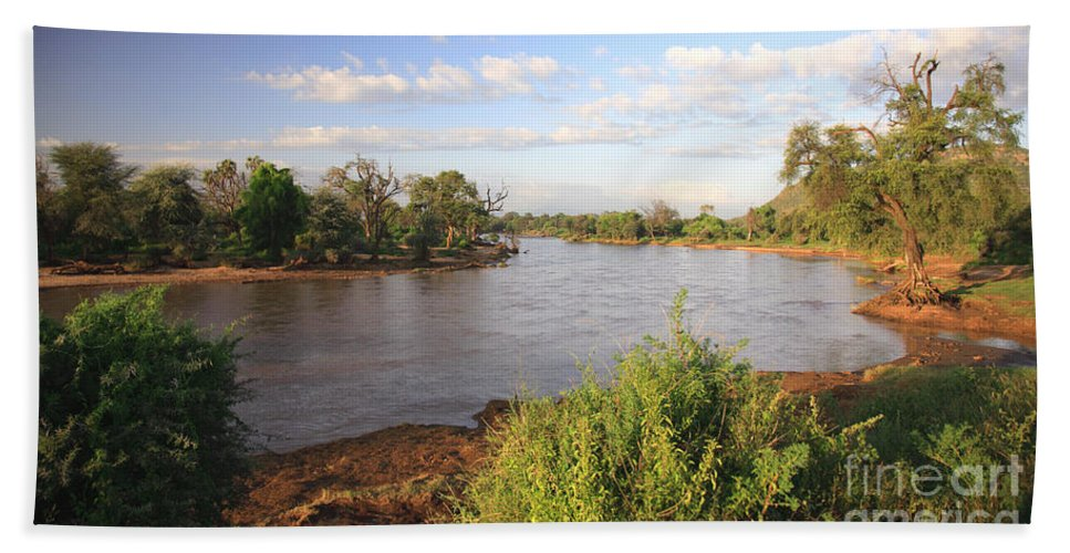 Africa Bath Sheet featuring the photograph Ewaso Nyiro River by Deborah Benbrook