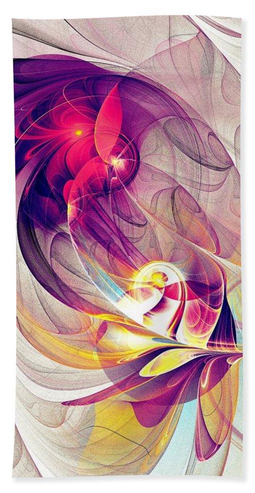 Exhilarated Hand Towel featuring the digital art Exhilarated by Anastasiya Malakhova