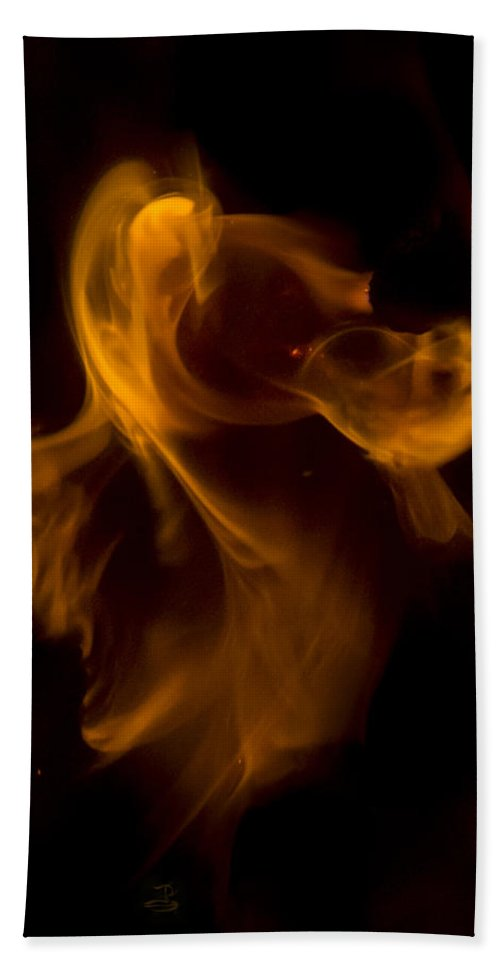 Ignition Hand Towel featuring the photograph Exorcism by Steven Poulton