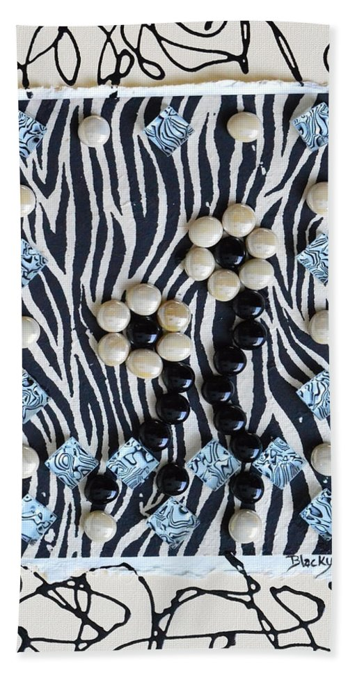 Modern Bath Sheet featuring the mixed media Exotic by Donna Blackhall