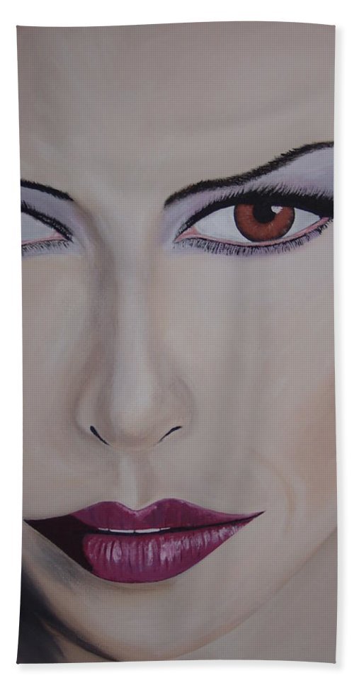 Exotic Hand Towel featuring the painting Exotica by Dean Stephens