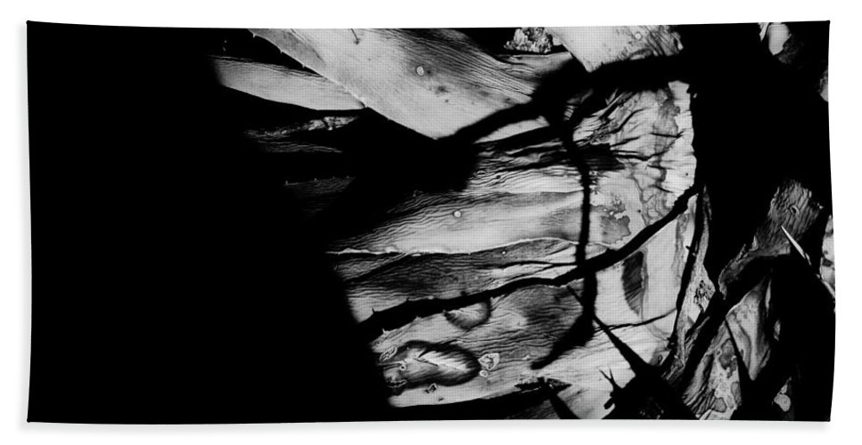 Black Bath Sheet featuring the photograph Expired by Jessica Shelton