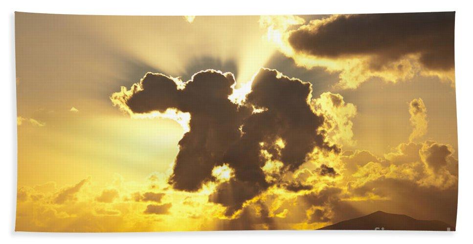 Clouds Bath Sheet featuring the photograph Exploding Cloud by James Lavott