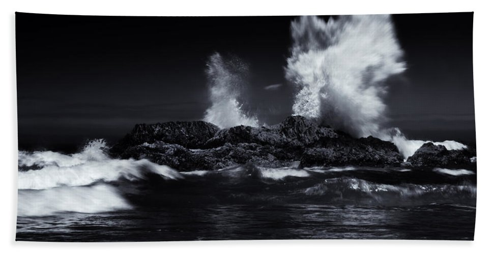 Explosion Hand Towel featuring the photograph Explosion by Mike Dawson